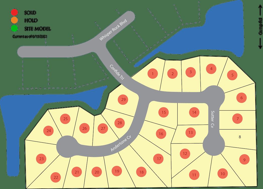 Villas at Whisper Rock Plat Map