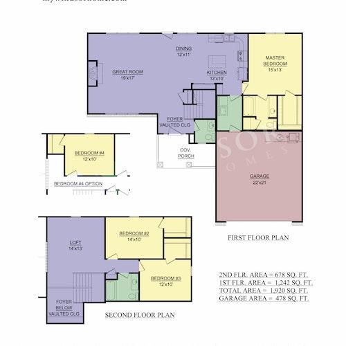 Allenmore - Allenmore 2D Floor Plan 1