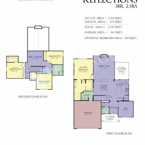 American Reflections - American Reflections 2D Floor Plan 1