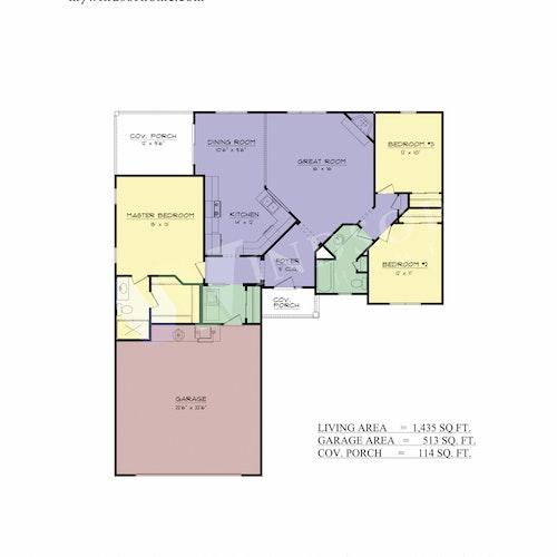Canyon II - Canyon 2D Floor Plan 1