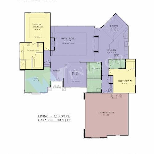 Cordeaux II - Cordeaux II 2D Floor Plan 1