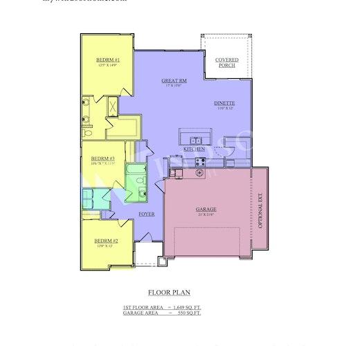 Stride 16 - Stride 16 2D Floor Plan 1