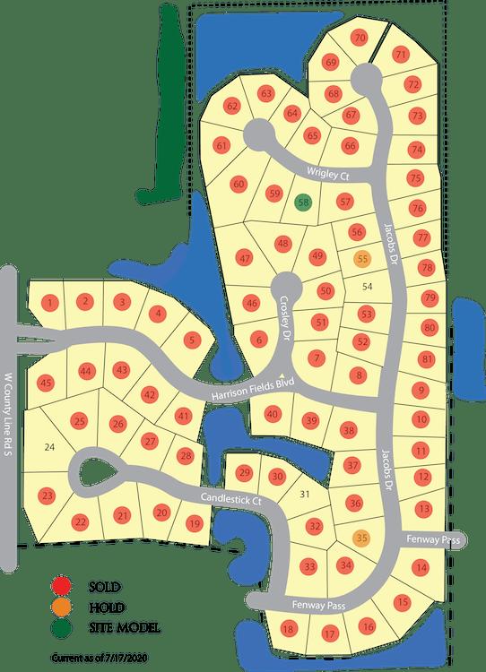 Harrison Fields Plat Map