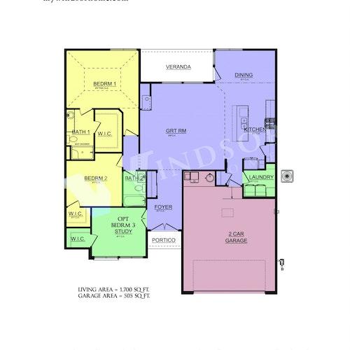 Hollin 17 - Hollin 17 2D Floor Plan 1