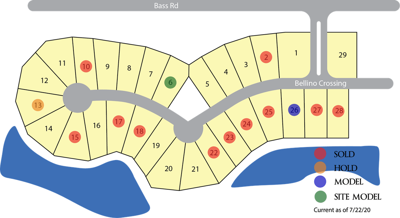 Palmira Lakes Plat Map