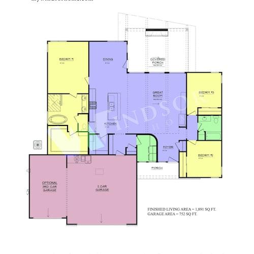 Frazier 19 - Frazier 19 2D Floor Plan 1